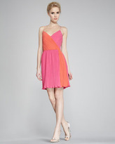 Two-Tone Plisse Dress