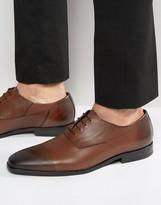 Hugo By Hugo Boss Square Oxford Diamond Toe Cap Derby Shoes