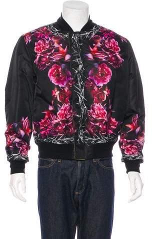 Givenchy Floral Print Reversible Bomber Jacket