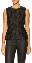 BCBGMAXAZRIA Cailin Feathered Sleeveless Top