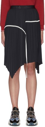 Fila X 3.1 Phillip Lim Elastic Waist Asymmetrical Pleat Skirt