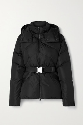 Moncler Aloes Hooded Belted Quilted Shell Down Jacket - Black
