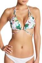 Red Carter Macrame Wrap Triangle Bikini Top