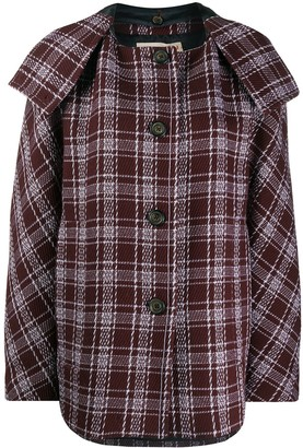 Marni Check Pattern Coat