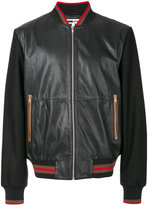 McQ by Alexander McQueen bomber jacket - men - Leather/Acrylic/Polyamide/Wool - 46