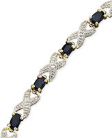 "Townsend Victoria 18k Gold over Sterling 7"" Bracelet, Sapphire (4 ct. t.w.) and Diamond Accent X"