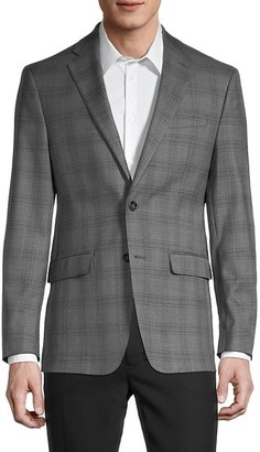 Calvin Klein Windowpane Slim-Fit Suit Jacket