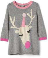 Gap Intarsia deer sweater dress