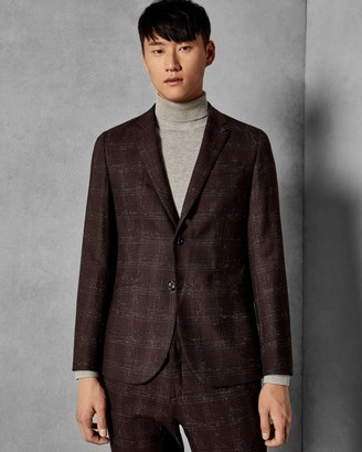 Ted Baker Checked Boucle Wool Suit Jacket