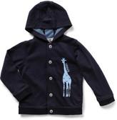 Armani Junior Boys Long Sleeve Hood Sweat With Giraffe Print