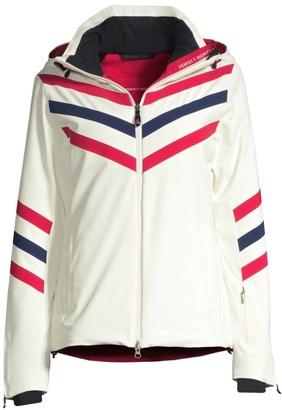 Perfect Moment Chevron Stripe Zip Jacket