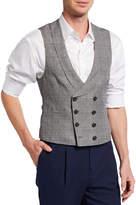 Brunello Cucinelli Men's Prince of Wales Wool-Blend Waistcoat