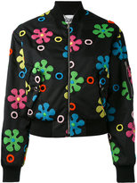 Moschino floral applique bomber jacket