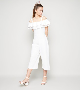 New Look Girls Layered Lace Frill Jumpsuit