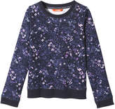 Joe Fresh Kid Girls' Floral Sweater, JF Midnight Blue (Size XL)