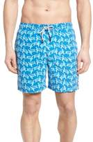 Men's Tom & Teddy Turtle Print Swim Trunks
