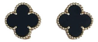 Van Cleef & Arpels Alhambra Black Yellow gold Earrings