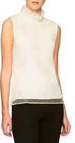 Burberry Tank with Ruffle Collar