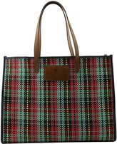 Etro Globetrotter Leather-trimmed Tote