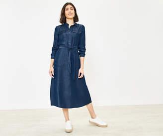 Oasis Denim Midi Shirt Dress