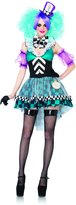 Leg Avenue Women's 4 Piece Manic Mad Hatter Costume
