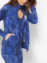 Michael Kors Active Tie-Dye Print Jacket Plus Size
