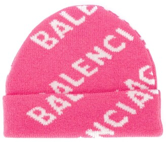 Balenciaga All-Over Logo Beanie