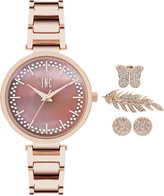 INC International Concepts Women's April Rose Gold-Tone Bracelet Watch and Accessory Set 34mm, Only at Macy's