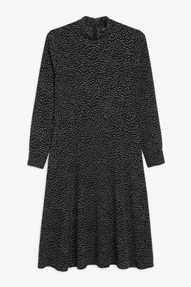 Monki Low turtleneck midi dress
