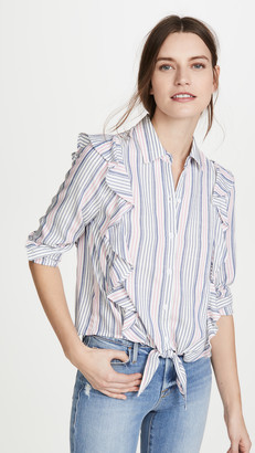 BB Dakota Ruffle Rider Button Down