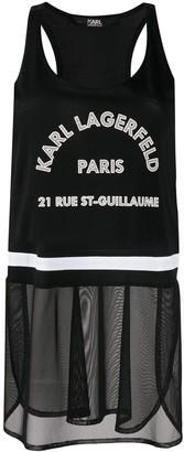 Karl Lagerfeld Paris Logo-Print Sleeveless Top