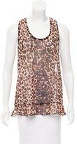 Anna Sui Leopard Print Silk Top w/ Tags