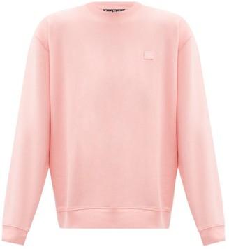 Acne Studios Forba Face Oversized Cotton-jersey Sweatshirt - Pink