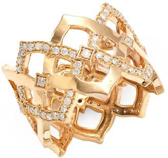 Sara Weinstock Chloe 18K Rose Gold Diamond Ring