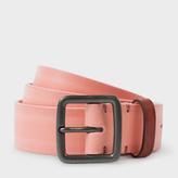 Paul Smith Men's Pink Burnished Leather Belt
