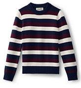 Classic Toddler Boys Stripe Crewneck Sweater-Burgundy Multi Stripe