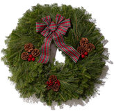 L.L. Bean Tartan Christmas Fir Wreath