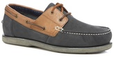 Maine New England Navy Leather Boat Shoes