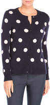 Kate Spade Polka Dot Intarsia Wool-Blend Cardigan