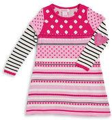 Design History Girls 2-6x Mixed Pattern Knit Dress