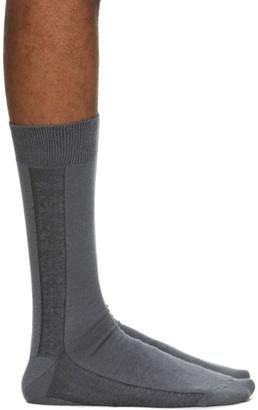 Issey Miyake Grey Border Socks