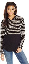 O'Neill Junior's Margery Hooded Pulllover Striped Sweater