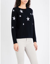 The White Company Star-pattern wool jumper