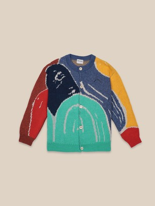 Bobo Choses Multicolor Abstractions Cardigan - XS