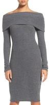Women's Nsr Off The Shoulder Body-Con Sweater Dress