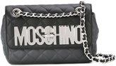 Moschino quilted logo crossbody bag - women - Calf Leather/metal - One Size