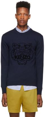 Kenzo Navy Wool Tiger Head Jumper Sweater