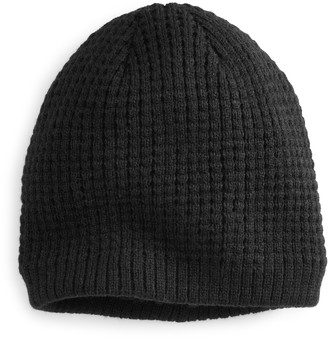 Apt. 9 Men's Waffle-Weave Textured Sherpa-Lined Cuffed Beanie
