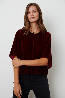 Velvet by Graham & Spencer Andi Silk Velvet Top