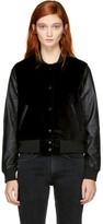 Rag & Bone Black Camden Club Bomber Jacket